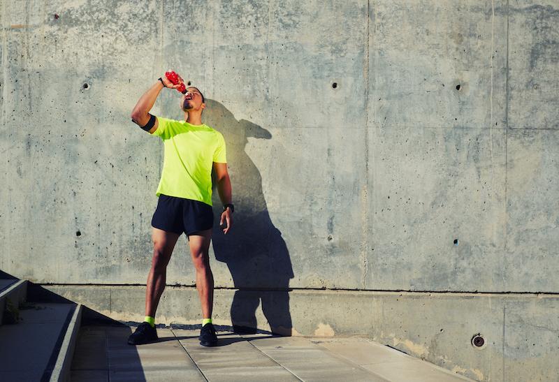 Sport Ernährungsplan: ausreichend trinken!
