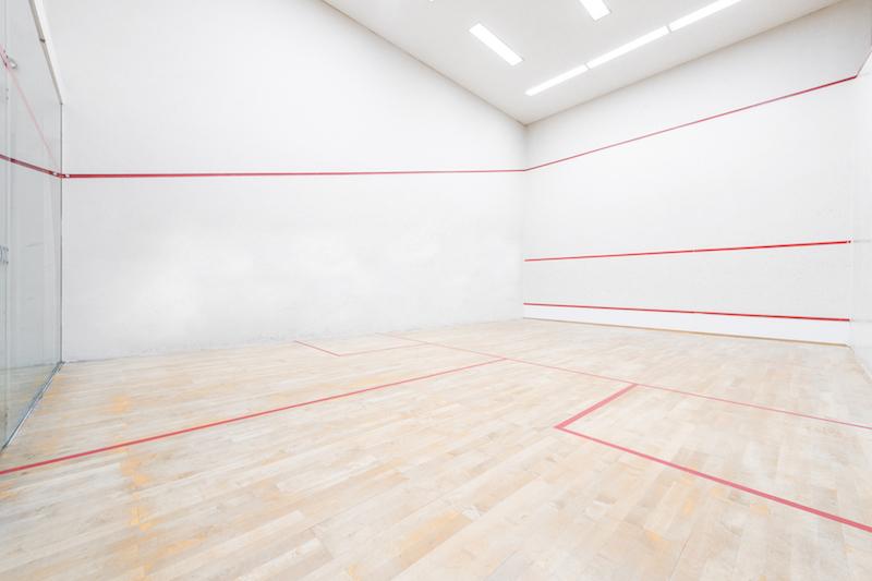 Was ist Squash - hier ist der Squash court