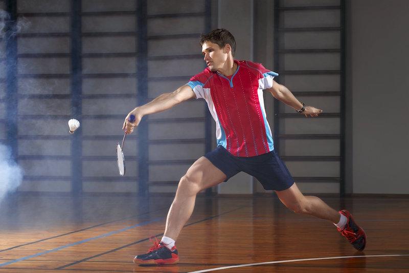Badminton Doppel oder Einzel