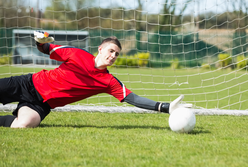 Torwarttraining als Vorbereitung für Fußball