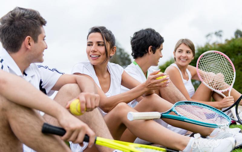 Tennisverein: ein tolles Zusammengehörigkeitsgefühl
